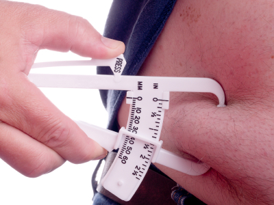 Get Back in Shape by lowering your body fat percentage. Monitor your body fat with an AccuMeasure Skinfold Caliper.